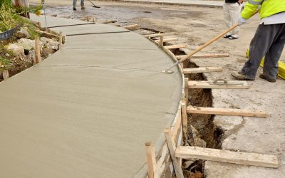 How New Sidewalks Poured and Flattened Out?